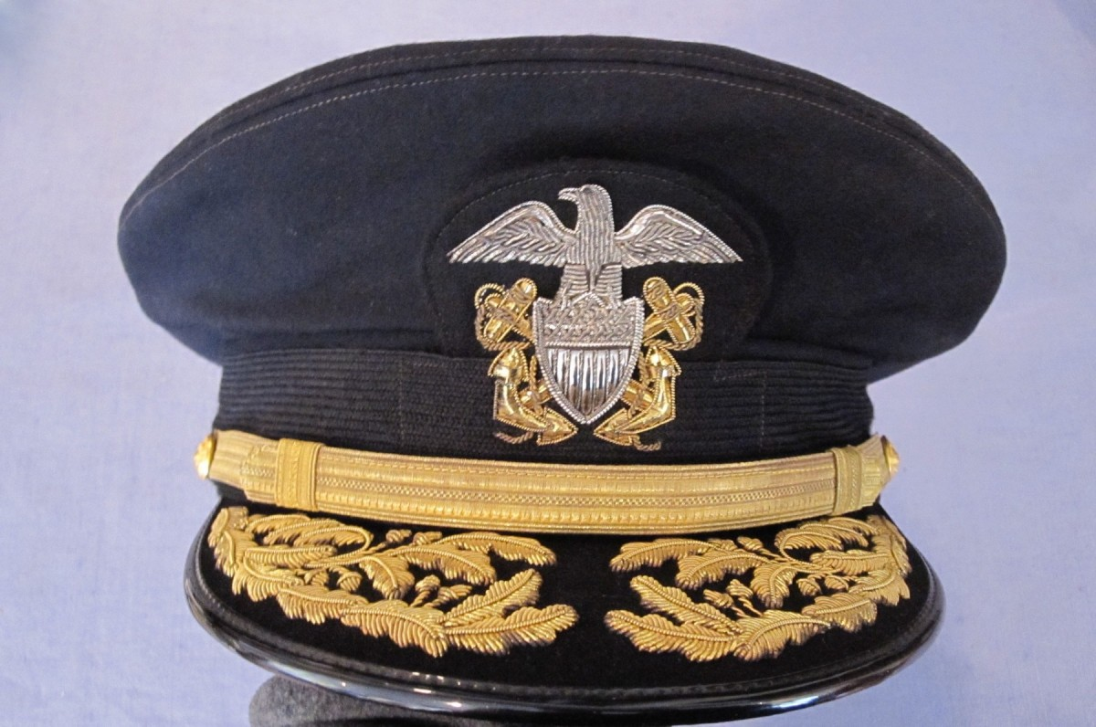 Headgear For Radm C A Hill Jr Usn J Mountain Antiques