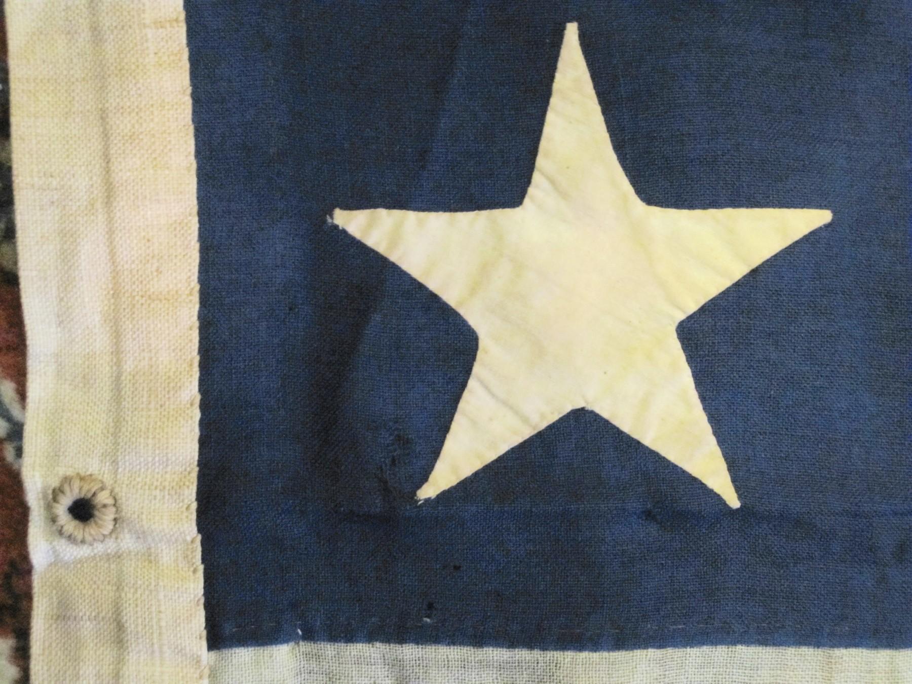 Civil War13 Star U S Navy Boat Flag J Mountain Antiques