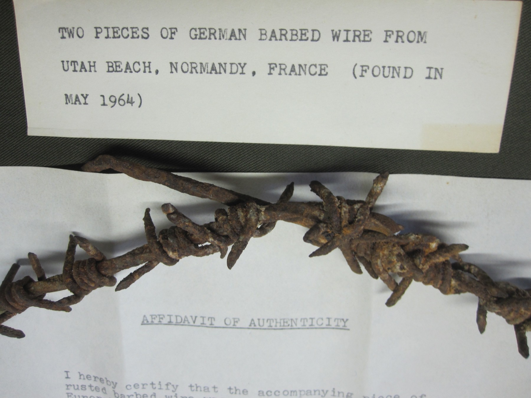 Identified Barbed Wire From Utah Beach   J. Mountain Antiques