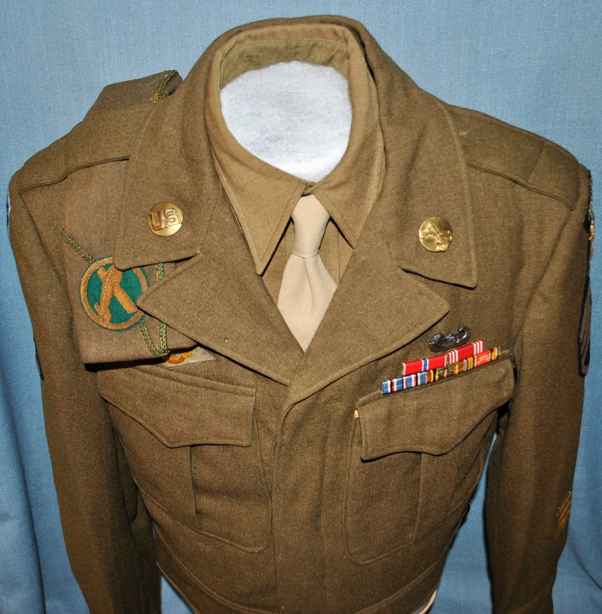 Ultra Rare WWII 101st Airborne Military Police Ike Jacket