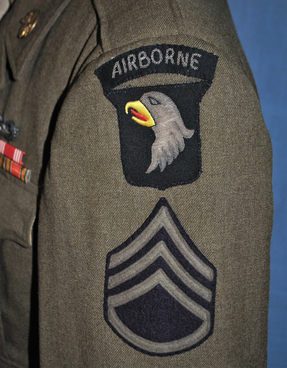 Ultra Rare WWII 101st Airborne Military Police Ike Jacket – Bullion