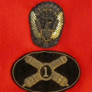 a04a2e2781a 1st Artillery Officer s Hardee Hat Insignias. – SOLD