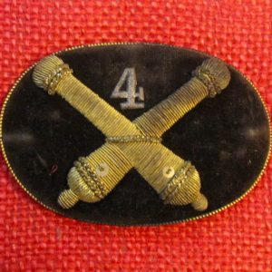 fe448f41330 4th Artillery Officer s Hardee Hat Insignia. – on HOLD