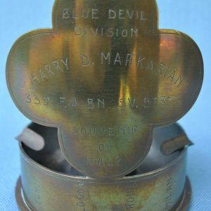 88th ID Bookends With Painted HQ DUIs | J  Mountain Antiques