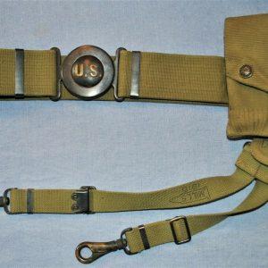 Mills 1912 U.S. Army Garrison Belt w/ Pouch & Hangers for NCO