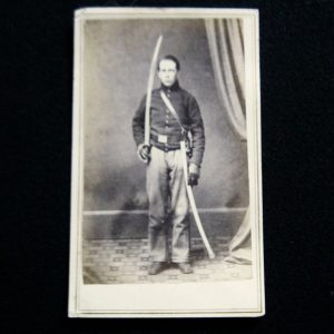 CDV- New York Cavalryman With Drawn Saber
