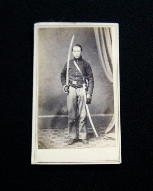 CDV- New York Cavalryman With Drawn Saber